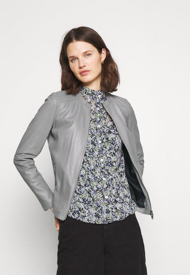 PRESTIGE - Leather jacket - light grey
