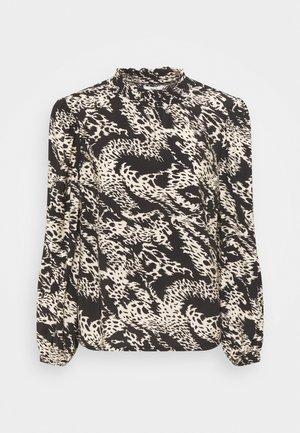 OBJTALUSA  - Long sleeved top - black/sandshell