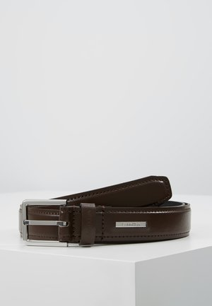 STITCHED BOMBED BELT - Belt - brown