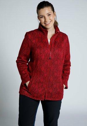 Fleece jacket - donker wijnrood