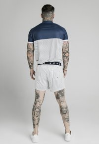 SIKSILK - Camiseta estampada - navy  white - 2