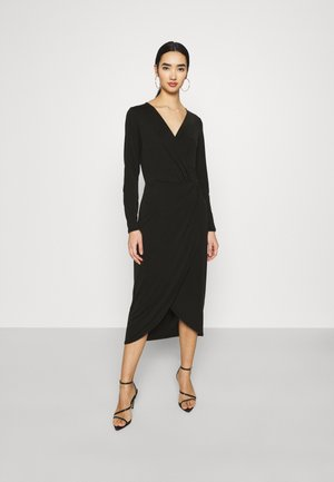 OBJANNIE NADINE DRESS - Žerzejové šaty - black