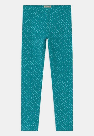 Leggings - tile blue