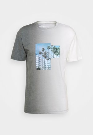 JORNEWSET TEE CREW NECK - T-shirt imprimé - ombre blue