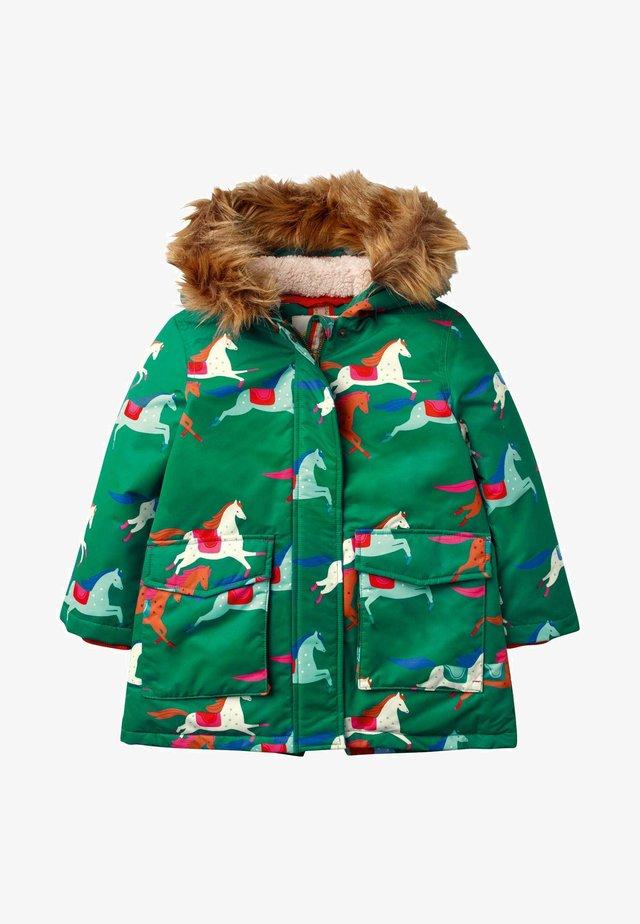 Winter coat - waldgrün, pferde