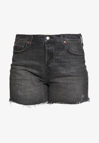 Levi's® Plus - 501® ORIGINAL SHORT - Denim shorts - black denim - 4