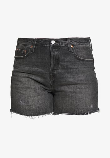 501® ORIGINAL SHORT - Denim shorts - black denim
