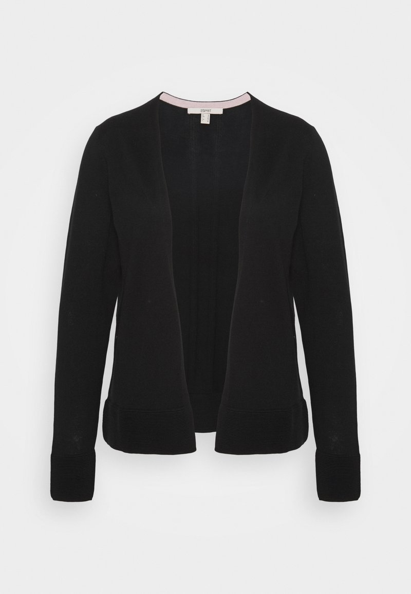 Esprit - CARDI OPEN - Vest - black