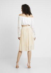 NA-KD - MIDI PLEATED SKIRT - A-line skirt - beige - 2