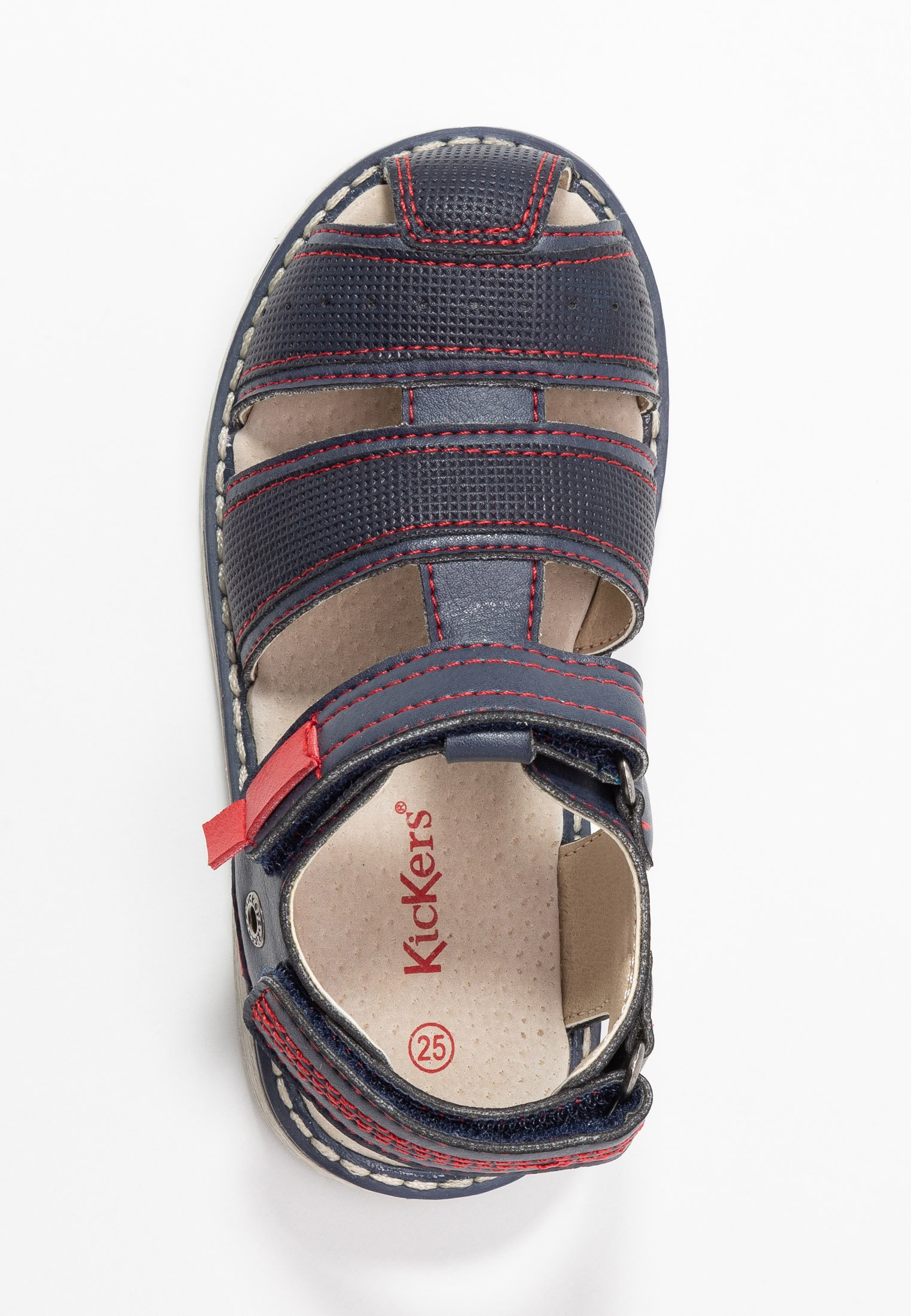 Kickers Pepster - Sandals Marine/rouge