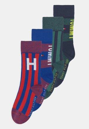 SEASONAL COLLEGIATE 4 PACK UNISEX - Socks - red/blue