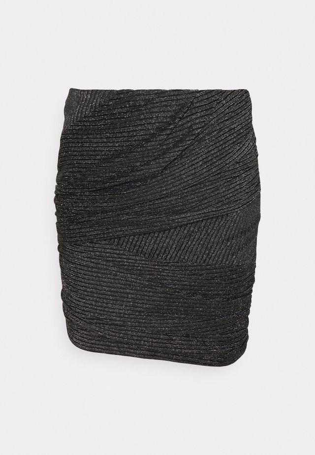 SKIRT - Bleistiftrock - black/silver