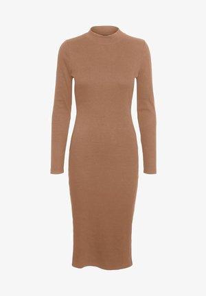 Gebreide jurk - mocha mousse