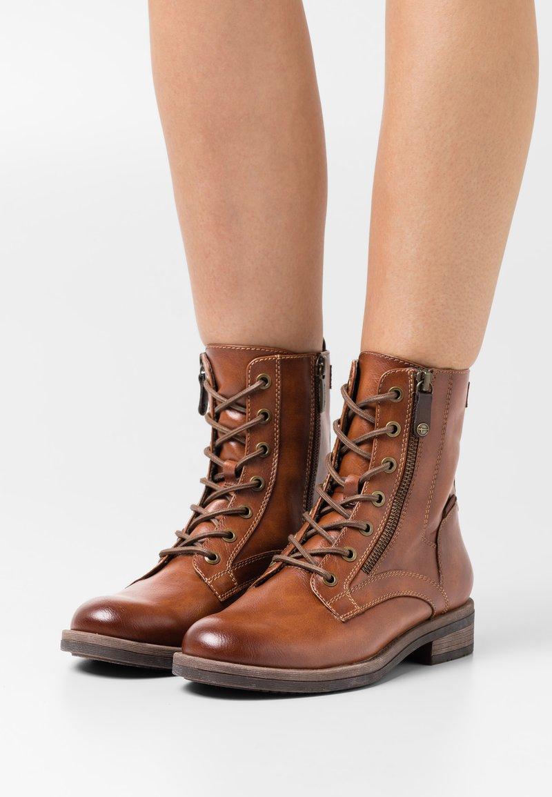 Tamaris - Lace-up ankle boots - cognac