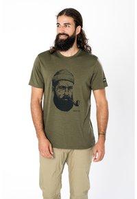 super.natural - Print T-shirt - olivgrün - 0