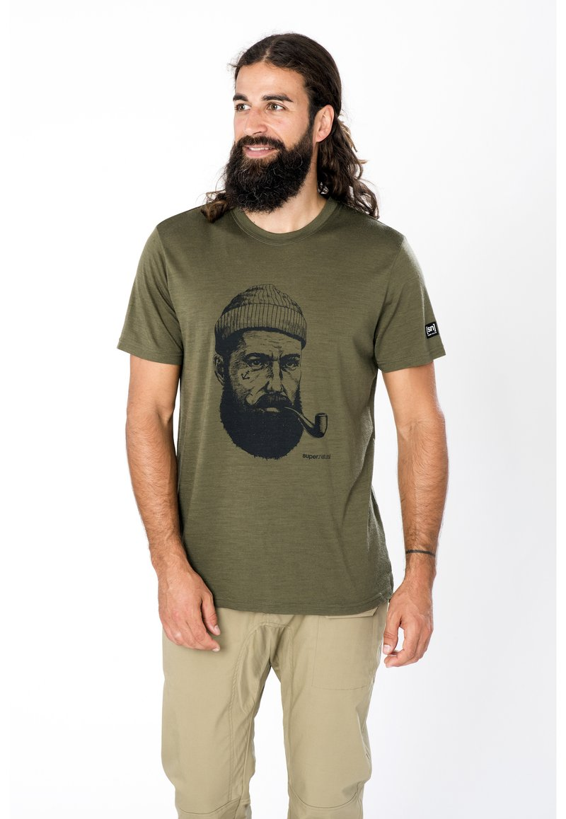 super.natural - Print T-shirt - olivgrün