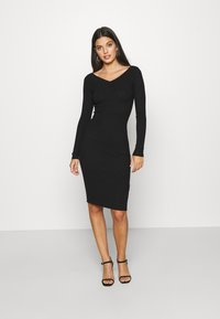 Even&Odd - JUMPER DRESS - Etuikjole - black - 0