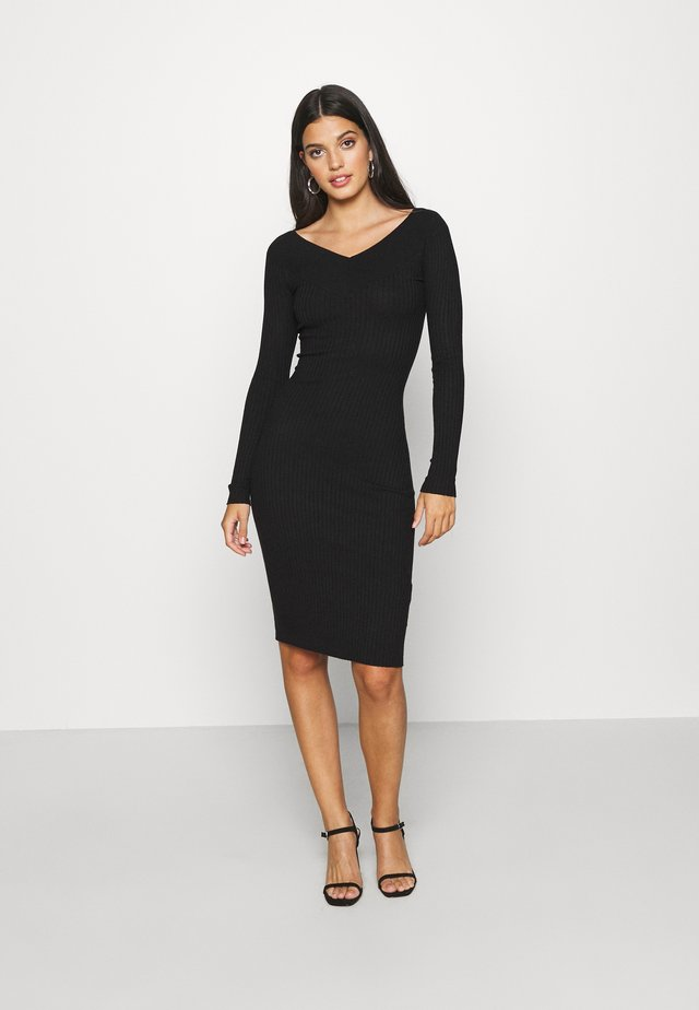 JUMPER DRESS - Shift dress - black
