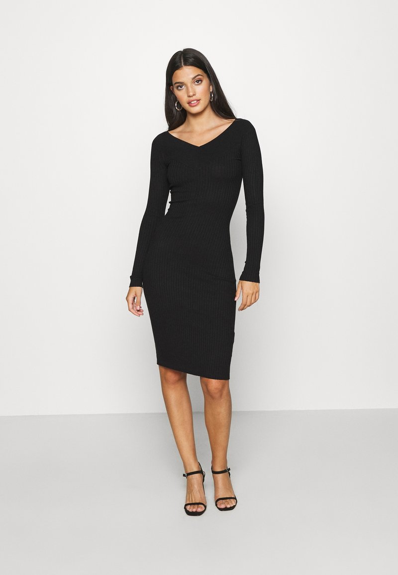 Even&Odd - JUMPER DRESS - Etuikjole - black