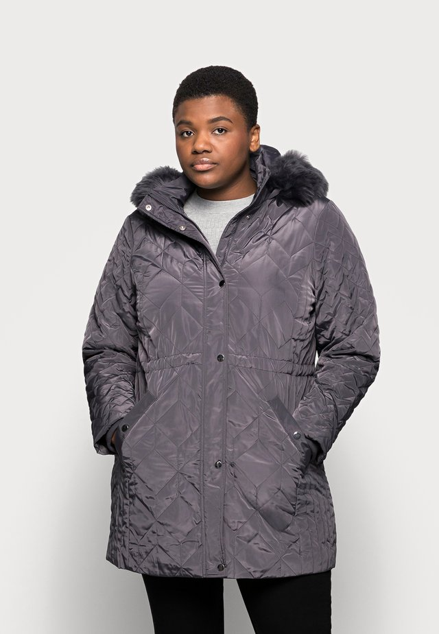 QUILTED - Classic coat - grey