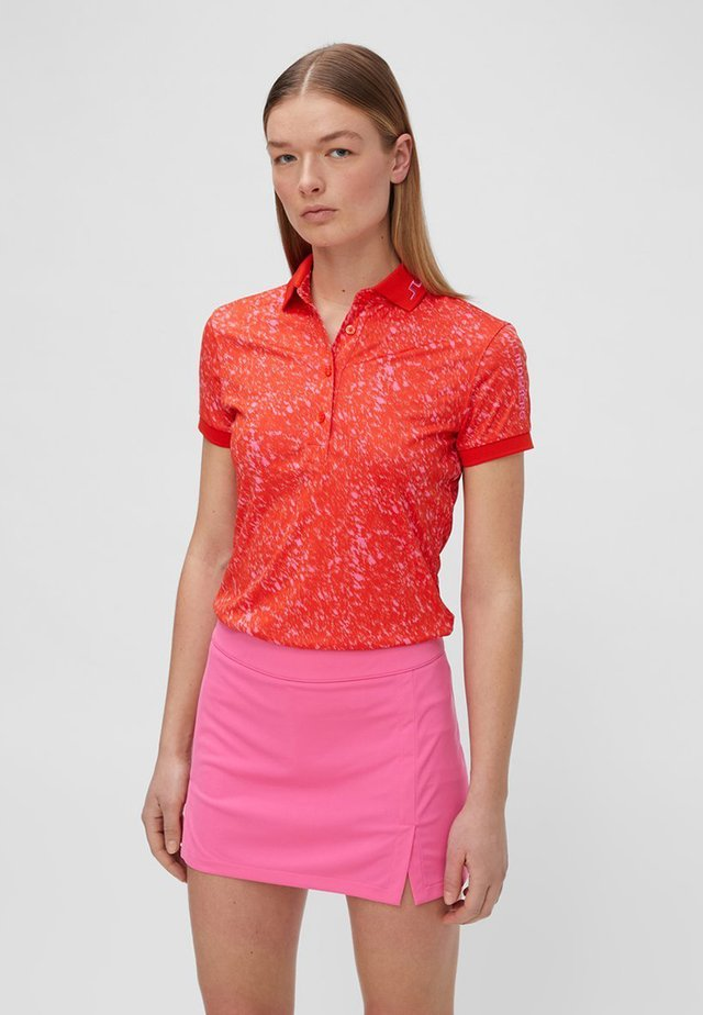 JL141D05E-G11 - Polo shirt - fences plater red pink