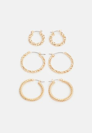 PCZADA EARRINGS 3 PACK - Pendientes - gold-coloured