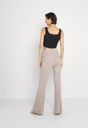 KYLIE FLARE TROUSERS - Legíny - taupe marl
