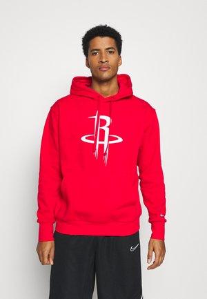 NBA HOUSTON ROCKETS LOGO ESSENTIAL HOODIE - Club wear - university red/white
