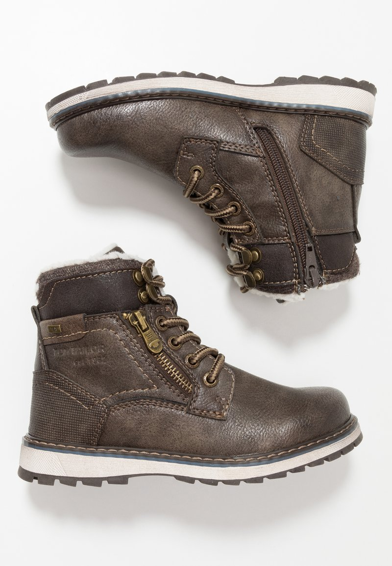 TOM TAILOR - Lace-up ankle boots - pepper