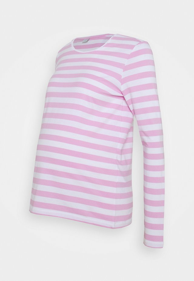 PCMRIA NEW TEE - Long sleeved top - bright white/pastel lavender
