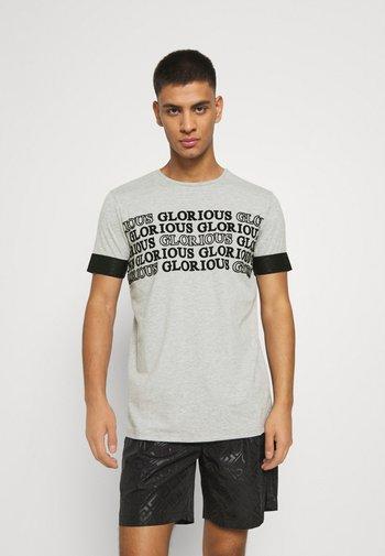 ESTEN TEE - T-shirt imprimé - grey marl