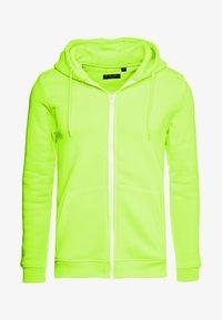 Brave Soul - MAGENTA - veste en sweat zippée - neon yellow - 4