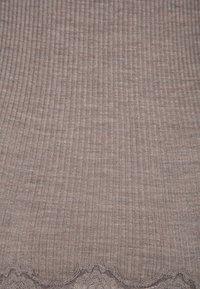 Rosemunde - SILK-MIX CARDIGAN REGULAR LS W/REV VINTAGE LACE - Kardigan - brown melange - 5