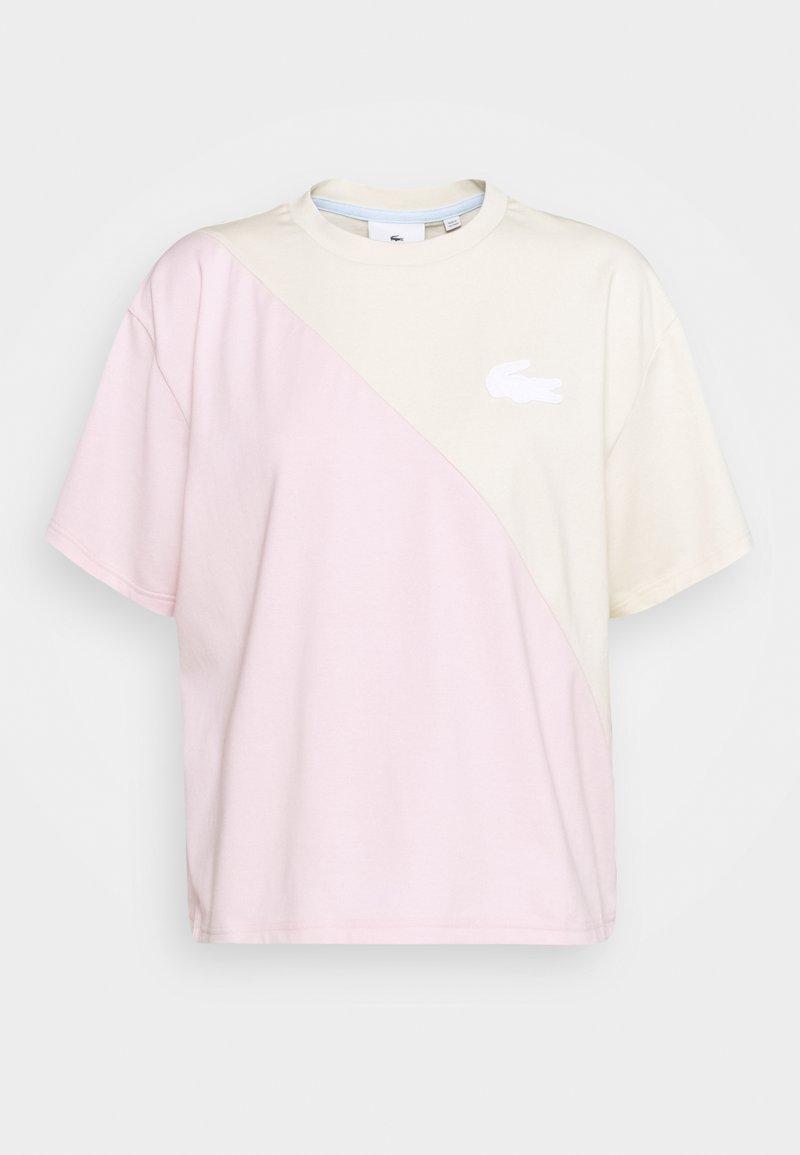 Lacoste LIVE - Print T-shirt - naturel clair/nidus