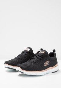 Skechers Sport - FLEX APPEAL 3.0 - Sneaker low - black/rose gold - 4