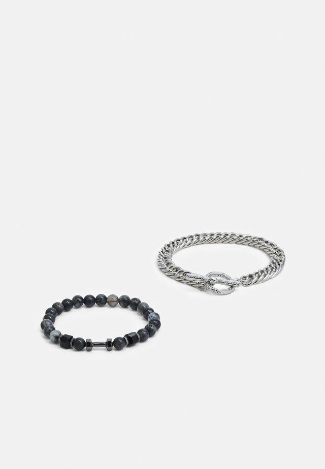 CHAIN BEAD 2 PACK - Bracelet - black