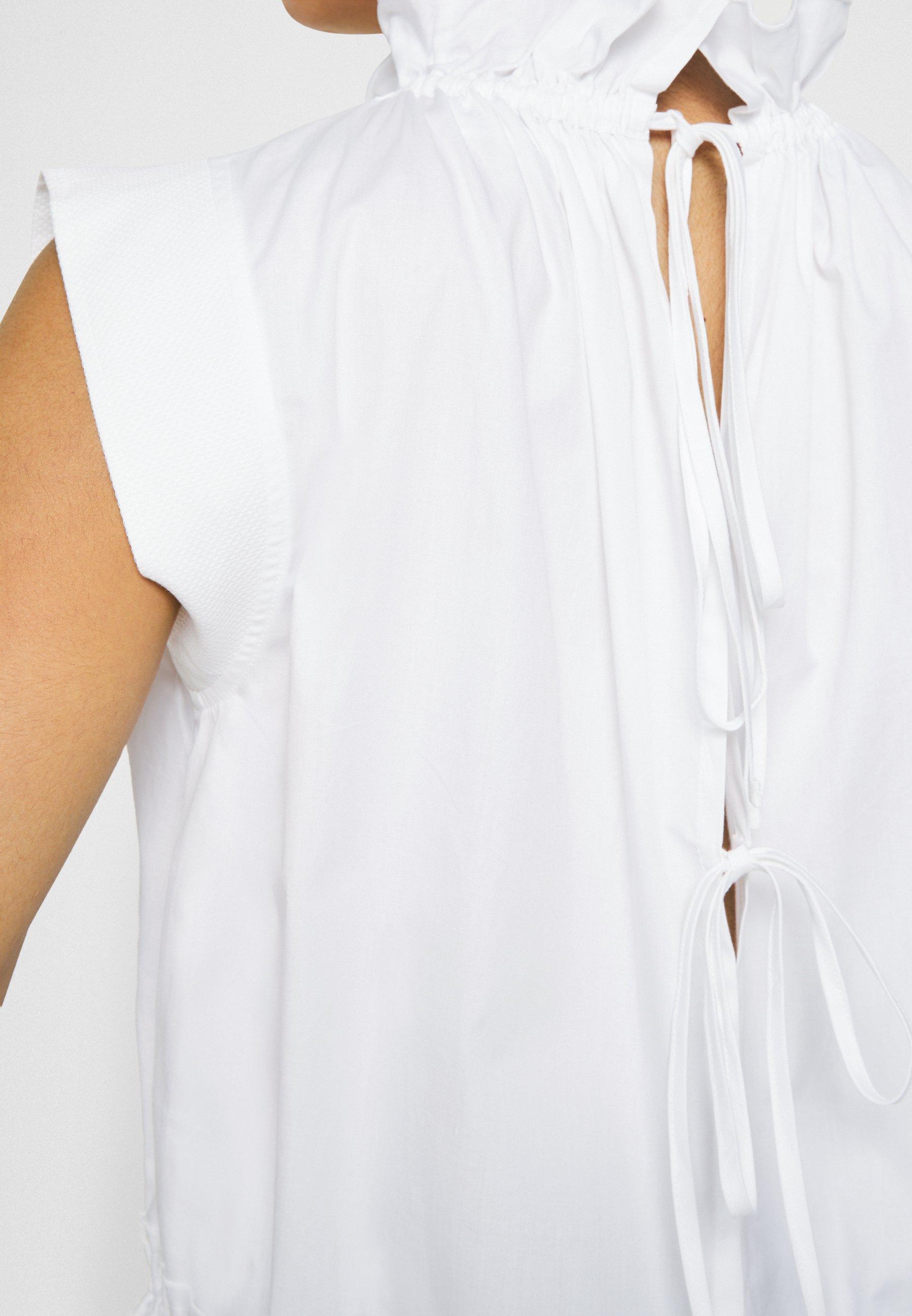 Women SLEEVELESS RUFFLE NECK - Blouse