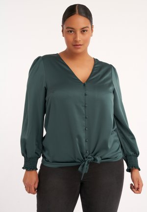 MET KNOOPDETAIL - Button-down blouse - green