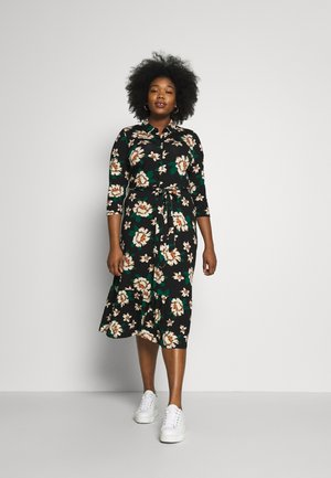FLORAL SLEEVE SHIRT DRESS - Jersey dress - multi coloured