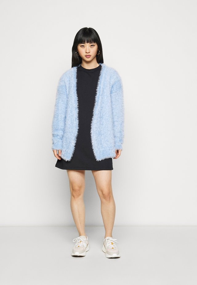 EYELASH EDGE TO EDGE CARDIGAN - Cardigan - light blue