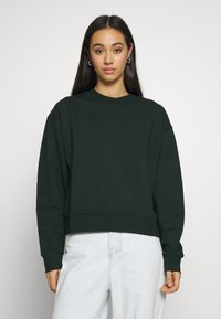 Weekday - HUGE CROPPED - Sweatshirt - bottle green - 0