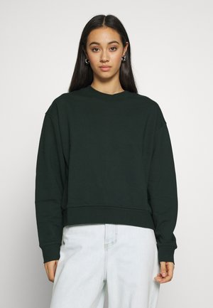 HUGE CROPPED - Mikina - bottle green
