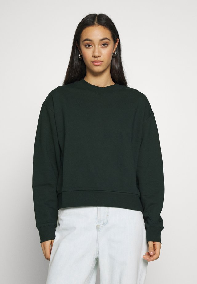 HUGE CROPPED - Sweatshirt - bottle green