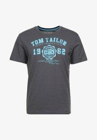 TOM TAILOR - LOGO TEE - Print T-shirt - tarmac grey - 3