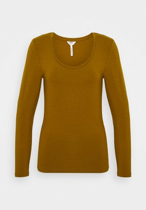 OBJKATE UNECK  - Long sleeved top - tapenade