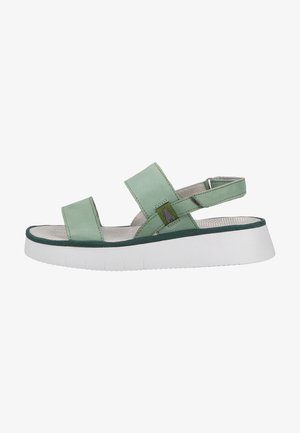 Sandalen met plateauzool - jade green