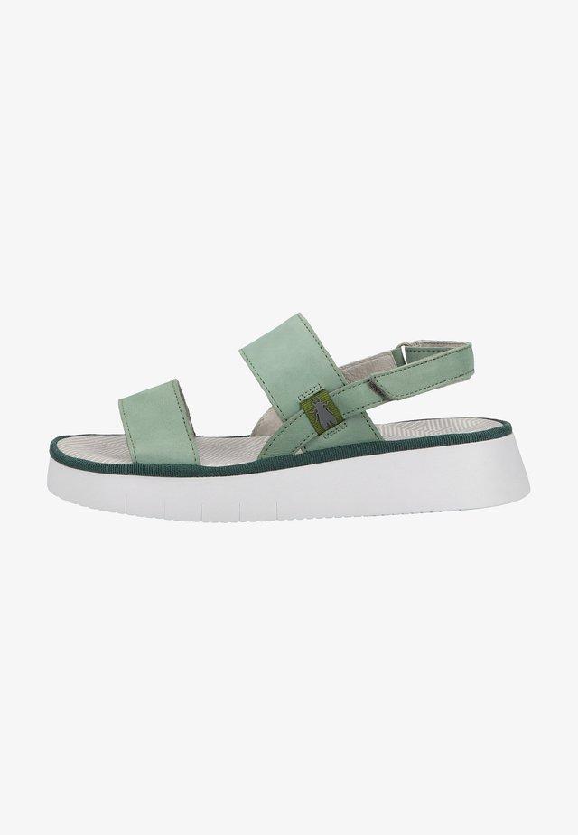 Sandales à plateforme - jade green