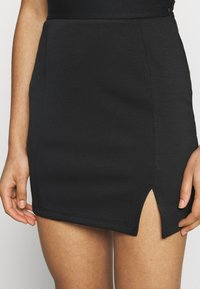 Zign - Mini princess seams skirt high waisted with slit - Pencil skirt - black - 3