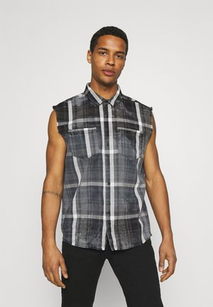 MARENO - Shirt - black/stone grey
