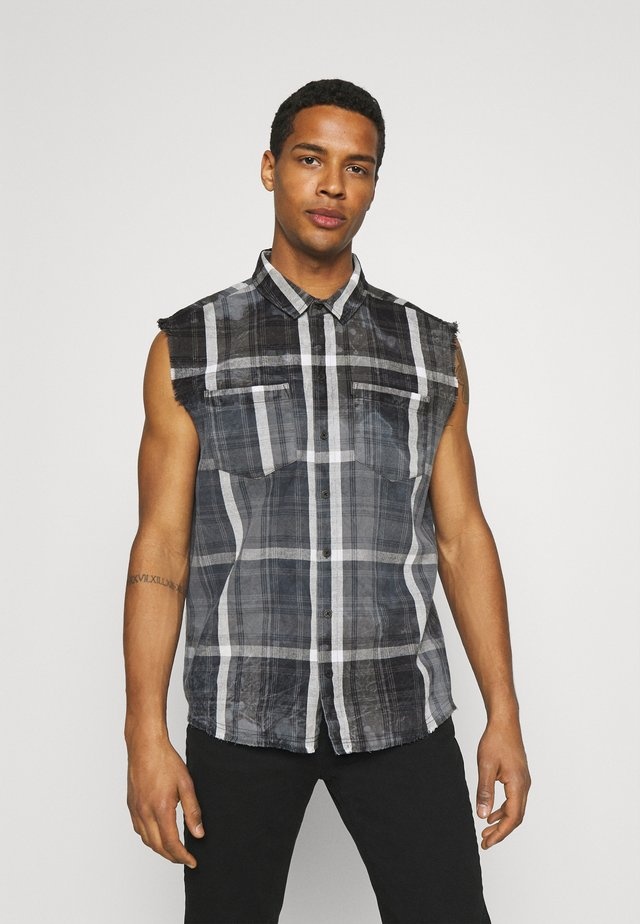 MARENO - Camisa - black/stone grey